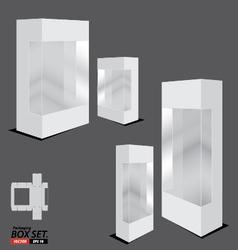 Packaging Box Design White Packaging Box Design vector image