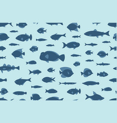seamless pattern fishes vector image vector image