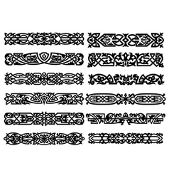 Black and white ornaments or borders vector image vector image