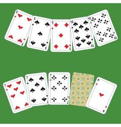 Card poker vector