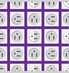 Electric outlet energy socket electrical plug vector