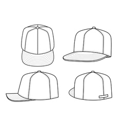 green rap cap vector image vector image