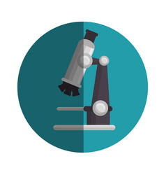 microscope medical emblem icon vector image