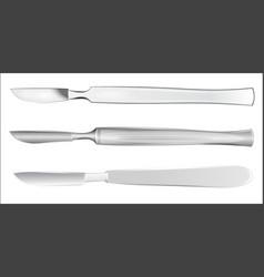 Set of medical scalpels vector