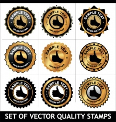 set of quality stamps vector image vector image