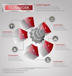Teamwork infographic vector image