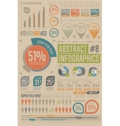 Abstract infographic elements Graph icon vector image