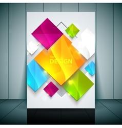 Fashion brochure flyer magazine cover vector image vector image
