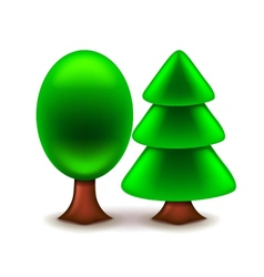 Trees icon isolated on white vector image