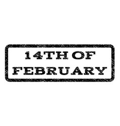 14th of february watermark stamp vector