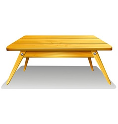 A wooden table vector