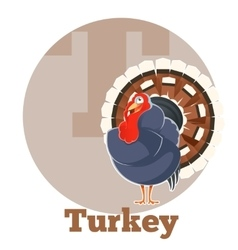 ABC Cartoon Turkey vector image