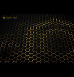 abstract hexagonal futuristic technology gradient vector image