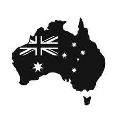 Australia map with the image of the national flag vector