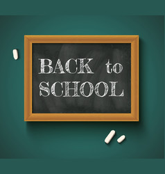 back to school on chalkboard vector image