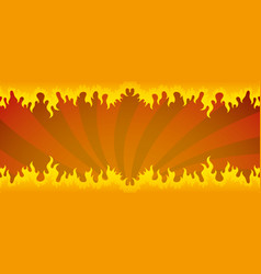 Background with a fiery flame vector