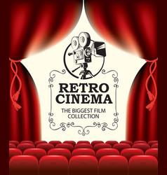 Banner for retro cinema movie festival vector