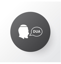 beg icon symbol premium quality isolated dua vector image