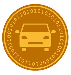 Car digital coin vector