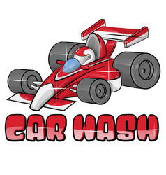 car wash symbol isoalted on white vector image