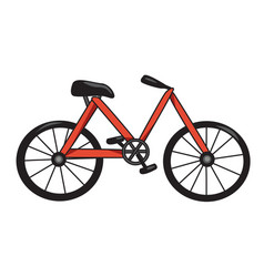cartoon image of bicycle icon bike symbol vector image