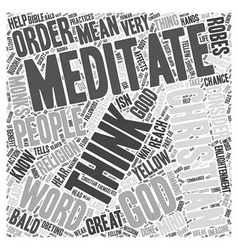 Christian meditation Word Cloud Concept vector