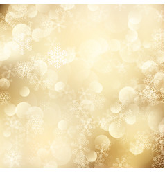 christmas background golden snowflakes vector image