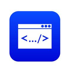 Code window icon digital blue vector