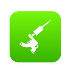 Coil tattoo machine icon digital green vector