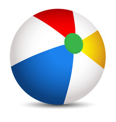 colorful beach ball isolated on a white background vector image