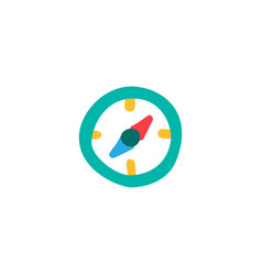 compass flat color vector image
