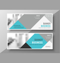 creative abstract business banners elegant design vector image