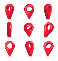 creative of locator pin vector image