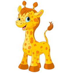 Cute giraffe vector