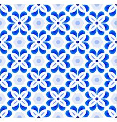 Cute tile pattern colorful decorative floral vector