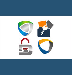 data protection concept set vector image