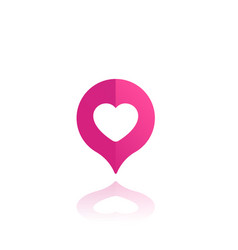 Dating service icon heart and pin vector