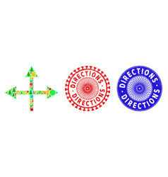 Directions scratched seals and intersection vector