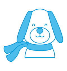 Dog with scarf vector