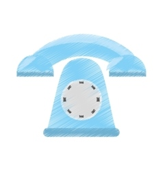 Drawing telephone communication appliance home vector