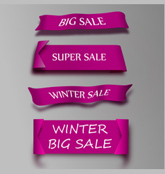 eps 10 sale banner design set of beautiful red vector image