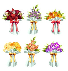 Flower bunches vector image