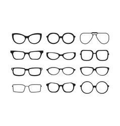 glasses silhouette plastic fashion cool models vector image