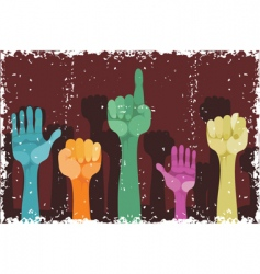 grunge hands vector image