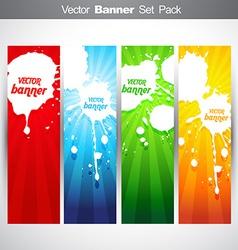 grunge header vector image