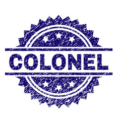 Grunge textured colonel stamp seal vector