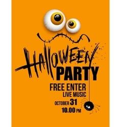 Halloween party Happy holiday vector