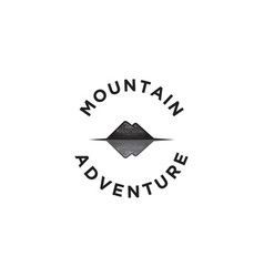hand drawn mountain shadow adventure logo designs vector image