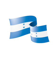 honduras flag on a white vector image