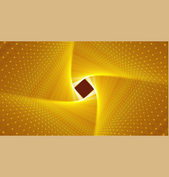Infinite rhombic or square twisted golden vector